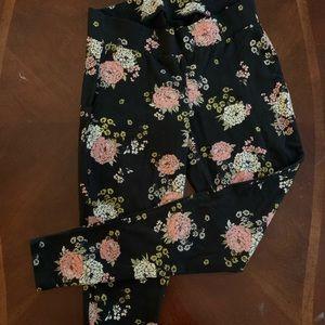 Torrid Black with floral leggings